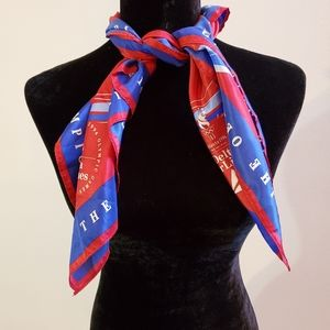 Olympic 1996 scarf red blue